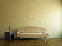 Yellow sofa and  in the livingroom Royalty Free Stock Photos