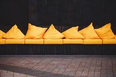 Yellow sofa Royalty Free Stock Photography