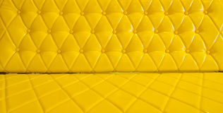 yellow sofa upholstery leather pattern background Royalty Free Stock Photos