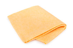 Yellow soft absorbent doormat isolated on white Stock Images