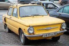 Yellow soviet Zaz 968 car Royalty Free Stock Image