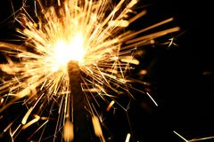 Yellow sparkler Stock Photography