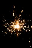 Yellow sparkler Royalty Free Stock Photography