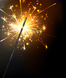 Yellow sparkler Stock Images