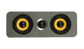 Yellow speaker Royalty Free Stock Image