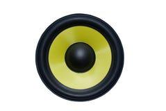 Yellow speaker. Stock Photography