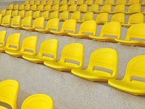 Yellow Spectators' Seats Royalty Free Stock Photos