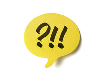 Yellow speech bubble Royalty Free Stock Photos