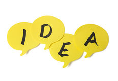 Yellow speech bubbles Royalty Free Stock Photography