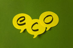 Yellow speech bubbles Royalty Free Stock Images