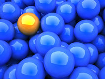 Yellow sphere Stock Image
