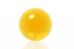 Yellow sphere Royalty Free Stock Photos