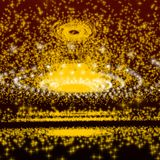 Yellow sphere galaxy Royalty Free Stock Photos