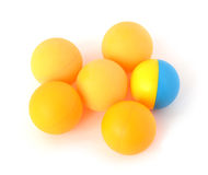 Yellow spheres. On a white background Stock Images
