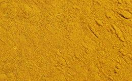 Yellow spice turmeric. Spice powder, Close-ups of ground turmeric Stock Photography