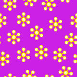 Yellow spinner with balls on blades. Pattern Royalty Free Stock Images