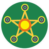 Yellow spinner in the form of a star Royalty Free Stock Images