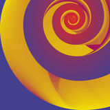 Yellow spiral Royalty Free Stock Image