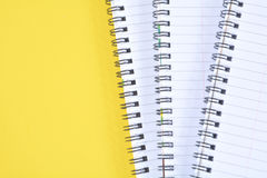 Yellow Spiral Paper Notepads Royalty Free Stock Images