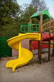 Yellow spiral plastic slide Royalty Free Stock Photography