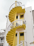 Yellow Spiral Staircase Royalty Free Stock Photography