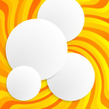 Yellow spiral twist background circle 3d Royalty Free Stock Images