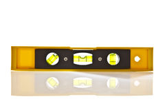 Yellow Spirit Level. With copy space Royalty Free Stock Photo