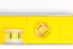 Yellow spirit level Royalty Free Stock Image