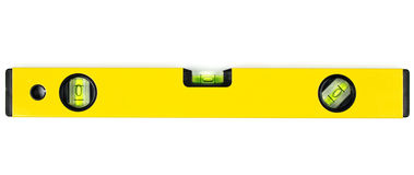 Yellow Spirit Level Stock Photo