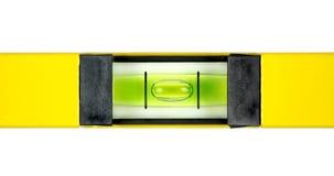 Yellow spirit level. Close up image Royalty Free Stock Photo