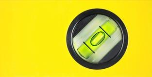 Yellow spirit level. Close up image Royalty Free Stock Images