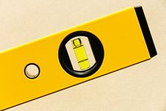 Yellow spirit level Stock Photos
