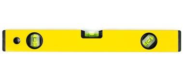 Yellow spirit level. Isolated on white background Stock Photo