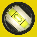 Yellow spirit level , macro image Royalty Free Stock Photos