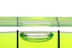 Yellow spirit level , macro image on white background. Yellow spirit level , macro image, on white background Stock Photo