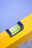 Yellow Spirit Level Tool Royalty Free Stock Image