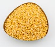 yellow split mung dal Stock Photography