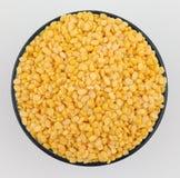 Yellow split mung dal Stock Photos