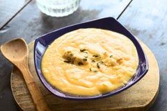 Yellow Split Pea Soup Royalty Free Stock Photos