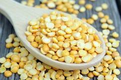 Yellow split pea Stock Photo