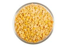 Yellow split peas Royalty Free Stock Images