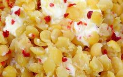Yellow Split Peas Bacon Bits Butter Close Royalty Free Stock Photo