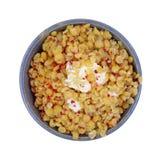 Yellow Split Peas Bacon Bits Butter Top Stock Photos