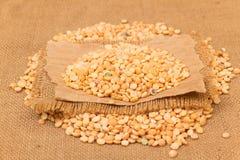 Yellow split peas Stock Images