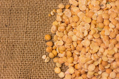 Yellow split peas Royalty Free Stock Photos