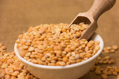 Yellow split peas Stock Photo