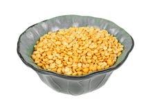 Yellow Split Peas Green Bowl Stock Images