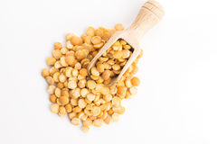 Yellow split peas Stock Photo