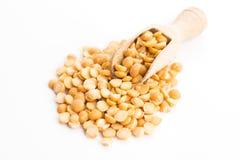 Yellow split peas Royalty Free Stock Image