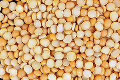Yellow Split Peas up Close Royalty Free Stock Images